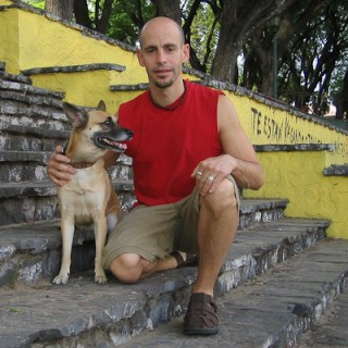 Mike with Clyde in Buenos Aires